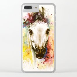 """""""Into the mirror"""" n°2 The horse Clear iPhone Case"""