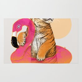 Chillin (Flamingo Tiger) Rug