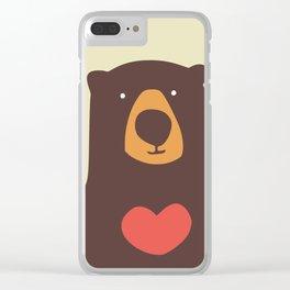 Hearty bear hug Clear iPhone Case