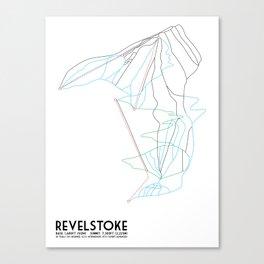 Revelstoke, BC, Canada - Minimalist Trail Map Canvas Print