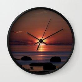 Shock-wave Sunset Wall Clock