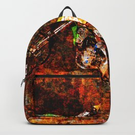 """""""On Fire"""" Freestyle Motocross Rider Backpack"""