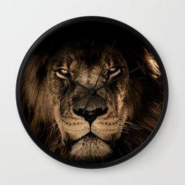 Lion Face Closeup Wall Clock