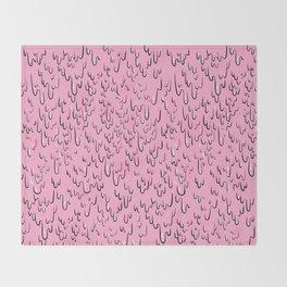 Melting Pink Slime Paint Throw Blanket