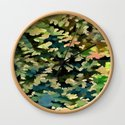 Foliage Abstract In Green, Peach and Phthalo Blue by taiche
