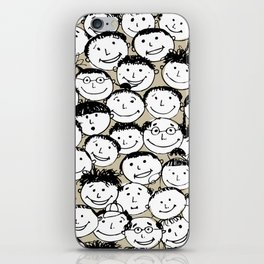 Crowd of funny people iPhone Skin