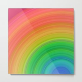 Bright Rainbow   Abstract gradient pattern Metal Print