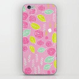 Belle Fleurs - bright roses iPhone Skin