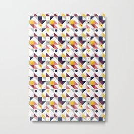 Geometric shapes retro pattern Metal Print