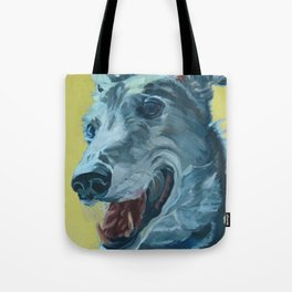 Dilly the Greyhound Portrait Tote Bag