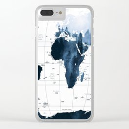 ALLOVER THE WORLD-Woods fog map Clear iPhone Case