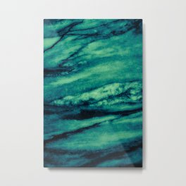 Turquoise marble Metal Print