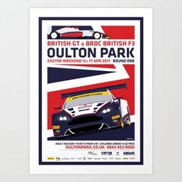 British GT and BRDC British F3, Oulton Park 2017 Art Print