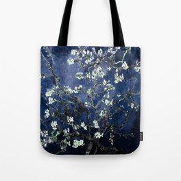 Vincent Van Gogh Almond Blossoms Dark Blue Tote Bag