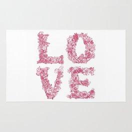 L O V E / pink Rug