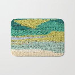 Green Weaving Bath Mat