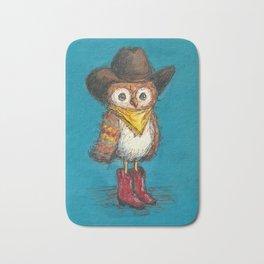 Cowboy Owl Bath Mat