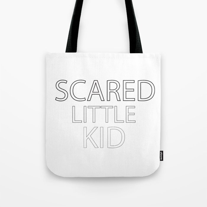 Scared Little Kid Tote Bag