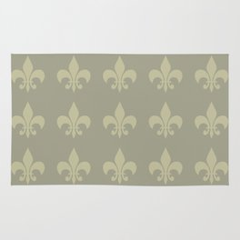 Nola fleur de lis ....Complimentary color harmony, yellow/purple Rug