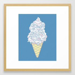 Cute Icecream Framed Art Print