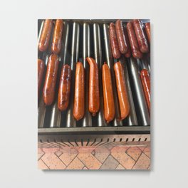 Weiners On The Grill Metal Print