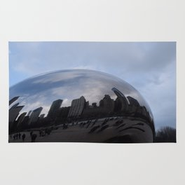 Cloud gate at Chicago Rug