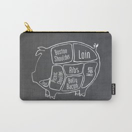 Pork Butcher Diagram (Pig Meat Chart) Carry-All Pouch