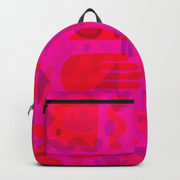 Neon Cutout Print Backpack