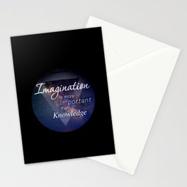 Imagination is more important than Knowledge Stationery Cards