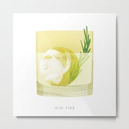 Cocktail Hour: Gin Fizz Metal Print