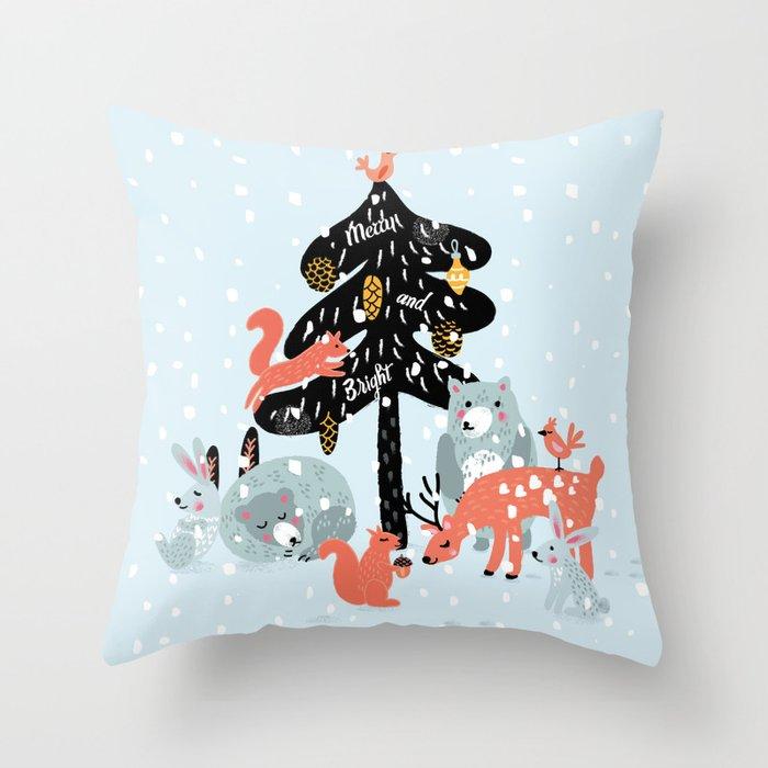 Christmas fairytale Throw Pillow