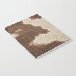 Cowhide Brown and White Notebook