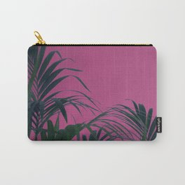 Pink Sunset Palm Carry-All Pouch