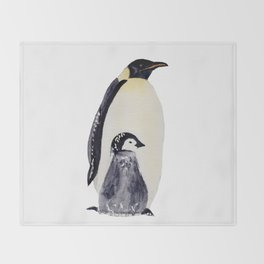 Manchot-pingouin-banquise Throw Blanket