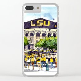 LSU Game Day Clear iPhone Case