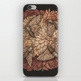 Flowers and Moths iPhone Skin