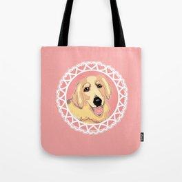 Golden Retriever Love Tote Bag