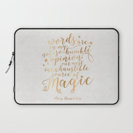 Dumbledore's Magic Words Laptop Sleeve