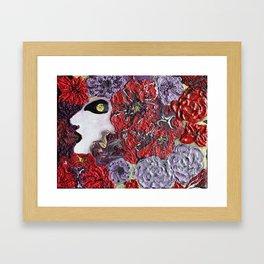 She's flowers Framed Art Print