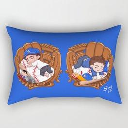 Chibi Baseball Mets Dylan O'Brien Rectangular Pillow