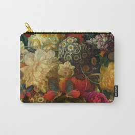"""""""Baroque Spring of Flowers and Butterflies"""" Carry-All Pouch"""