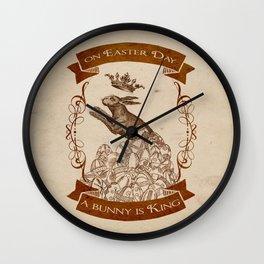 Bunny King Wall Clock