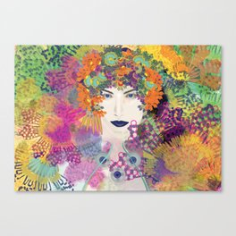 Lace girl Canvas Print