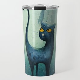 Cat in the forest Travel Mug