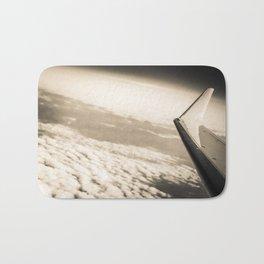 Airplane View Black and White Bath Mat