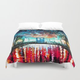 Tardis With Beautiful Starry Night Duvet Cover