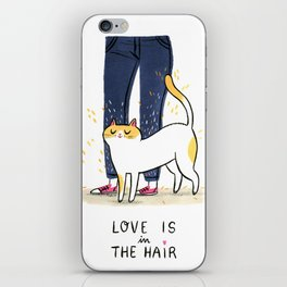 Love is in the hair iPhone Skin