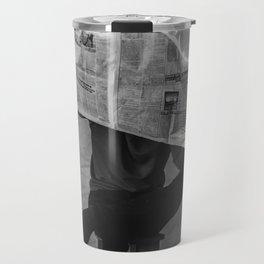 News on Fire (Baclk and White) Travel Mug