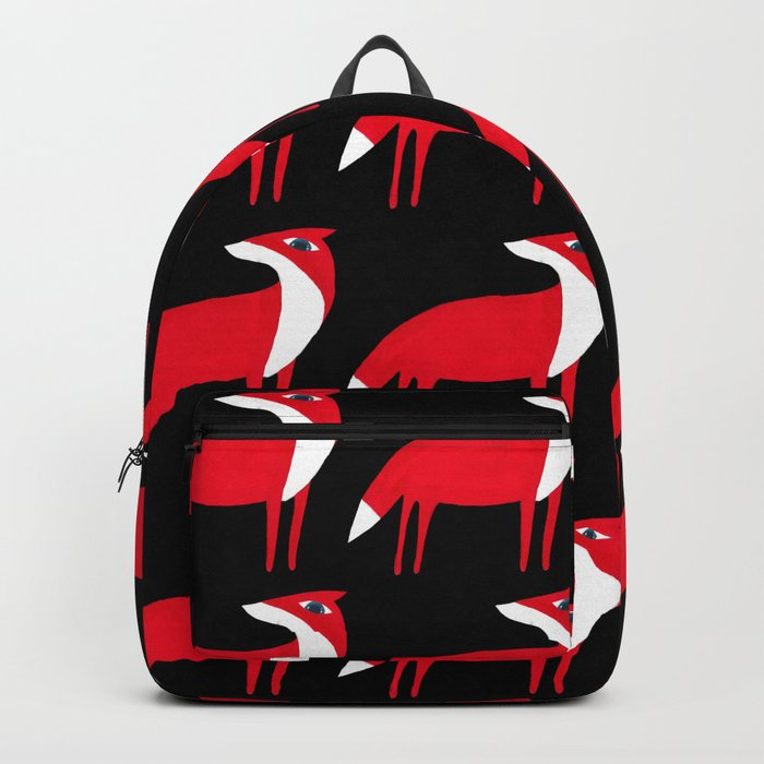 Fox pattern Backpack