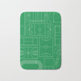 Sport Courts Pattern Art Bath Mat